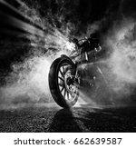 high power motorcycle chopper...   Shutterstock . vector #662639587