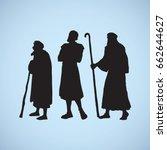 adult medieval herdsman  aged... | Shutterstock .eps vector #662644627