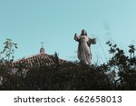 Small photo of statue of Christian religion
