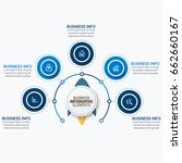infographics template vector | Shutterstock .eps vector #662660167