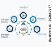 infographics template vector | Shutterstock .eps vector #662660197