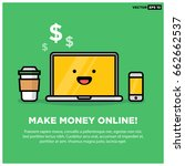 make money online on smiling... | Shutterstock .eps vector #662662537