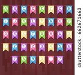 set of cartoon flag garlands... | Shutterstock .eps vector #662671663
