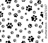 paw print seamless. traces of... | Shutterstock .eps vector #662672167