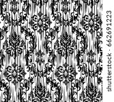 ikat ogee and damascus ornament ... | Shutterstock .eps vector #662691223
