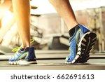 close up shoe run for running... | Shutterstock . vector #662691613