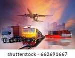 global business of container... | Shutterstock . vector #662691667
