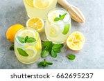 lemonade or mojito cocktail... | Shutterstock . vector #662695237