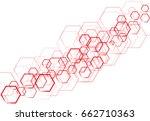 vector technology red hexagonal ...