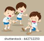 student boy having bruises on... | Shutterstock .eps vector #662712253