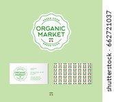 organic market logo. organic... | Shutterstock .eps vector #662721037