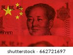 chinese money  flag of china... | Shutterstock . vector #662721697