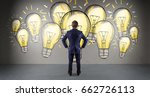 businessman in modern interior... | Shutterstock . vector #662726113