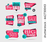 set of sale banners on a light... | Shutterstock .eps vector #662730043