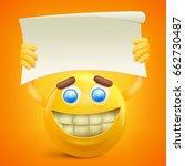 yellow smiley cartoon character ... | Shutterstock .eps vector #662730487