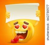 yellow smiley cartoon character ... | Shutterstock .eps vector #662730577