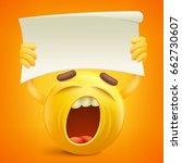 yellow smiley cartoon character ...   Shutterstock .eps vector #662730607