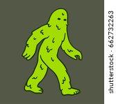 green slimy cartoon swamp