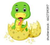 vector illustration of cute...   Shutterstock .eps vector #662739397