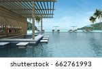 swimming pool bar have view sea ... | Shutterstock . vector #662761993