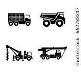 construction vehicles. simple... | Shutterstock .eps vector #662783317