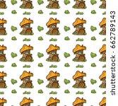 vector seamless endless pattern.... | Shutterstock .eps vector #662789143