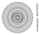 floral mandala decorative... | Shutterstock .eps vector #662792923