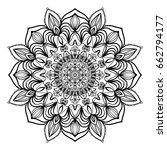 floral mandala decorative...   Shutterstock .eps vector #662794177