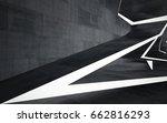 empty dark abstract concrete... | Shutterstock . vector #662816293