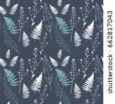 floral vector seamless pattern... | Shutterstock .eps vector #662817043