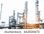 close up industrial view at oil ... | Shutterstock . vector #662820673