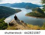 traveler man relaxing... | Shutterstock . vector #662821087