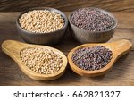 seeds of yellow and black... | Shutterstock . vector #662821327