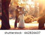 newlyweds groom and bride...   Shutterstock . vector #662826637
