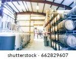 blur image modern beer plant ... | Shutterstock . vector #662829607