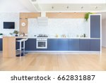 modern kitchen interior in big