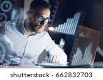 concept of digital diagram... | Shutterstock . vector #662832703