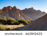spitzkoppe is a group of bald...   Shutterstock . vector #662842633