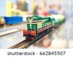 train locomotive toy railroad...   Shutterstock . vector #662845507