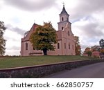 the church of saint mary on the ... | Shutterstock . vector #662850757