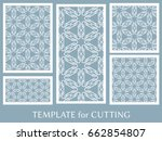decorative panels set for laser ... | Shutterstock .eps vector #662854807