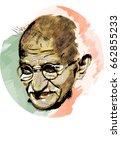 mohandas karamchand gandhi... | Shutterstock .eps vector #662855233