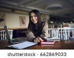 portrait of smiling young... | Shutterstock . vector #662869033