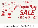 canada day sale card or... | Shutterstock .eps vector #662871043
