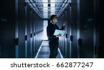 male it engineer works on a... | Shutterstock . vector #662877247