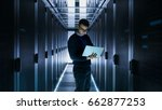 male it engineer works on a... | Shutterstock . vector #662877253