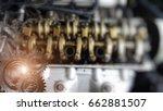 double exposure of gear ... | Shutterstock . vector #662881507