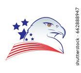 eagle head outline vector... | Shutterstock .eps vector #662888947