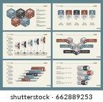 six economics slide templates... | Shutterstock .eps vector #662889253