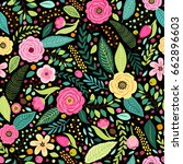 cute seamless pattern with... | Shutterstock .eps vector #662896603